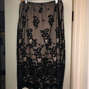 Beautiful Black/nude Skirt